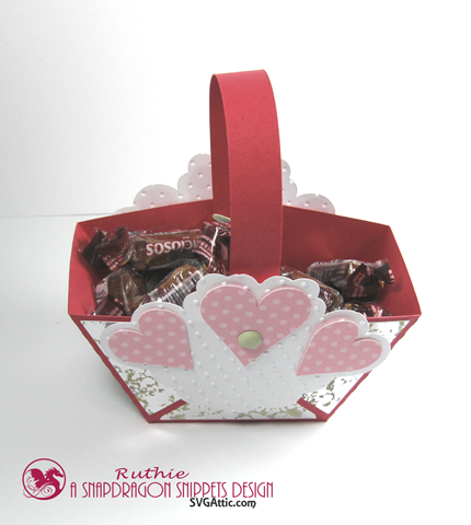 Hearts mini handle favor basket - SnapDragon Snippets - Ruthie Lopez. 4