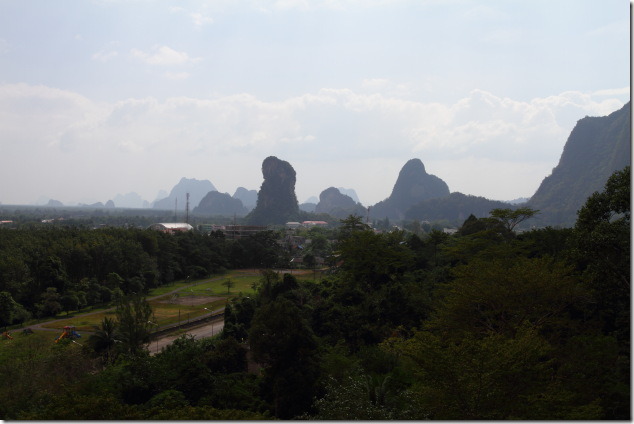 Limestone mountains of Phang nga from Tapan Cave