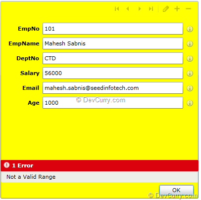Silverlight DataForm Validation