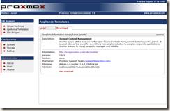 Proxmox VE的虛擬應用樣板(Virtual Appliance Templates) - 布丁