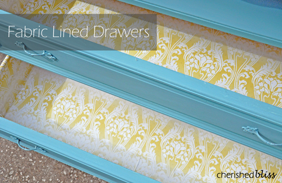 Fabric Lined Drawers