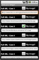 Screenshot of Webcams Widget