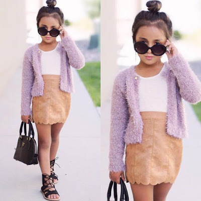 One of our favorite outfits from our new fall collection Purple cardigan