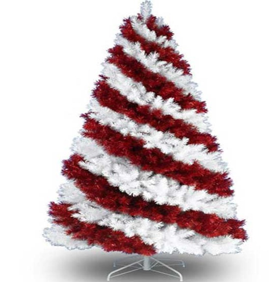 Unique-and-Unusual-Colorful-Artificial-Christmas-Tree-Design-Red-and-WHite
