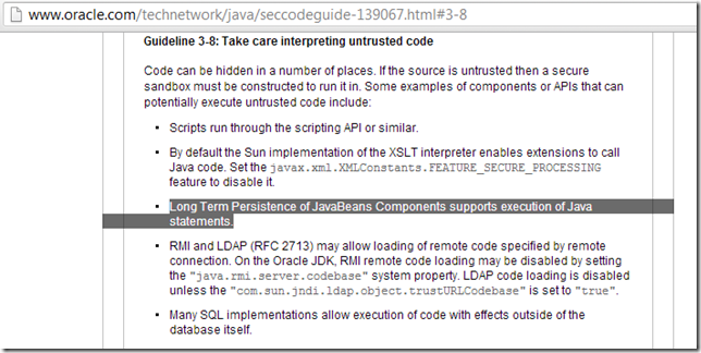 Dinis Cruz Blog: Using XMLDecoder to execute server-side