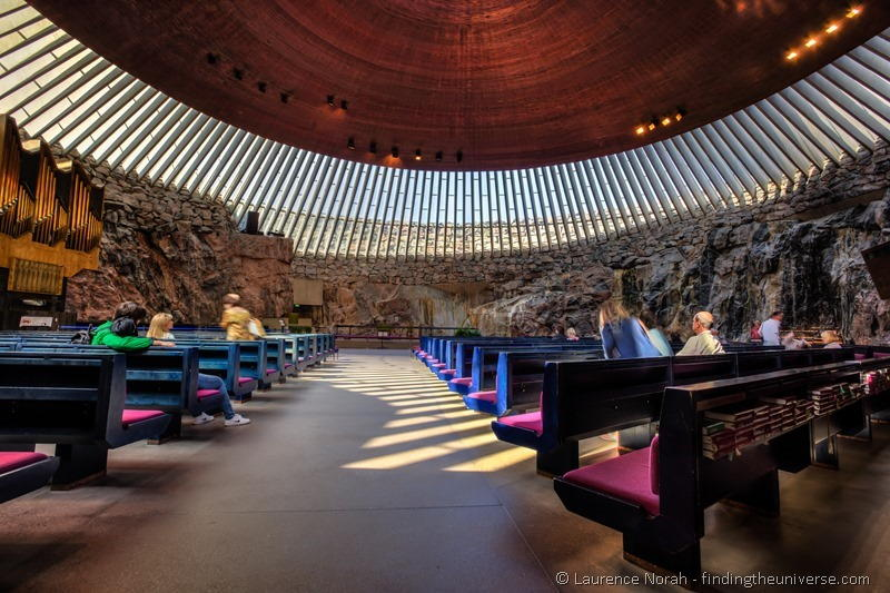 Temppeliaukio Church of the rock Helsinki finland interior