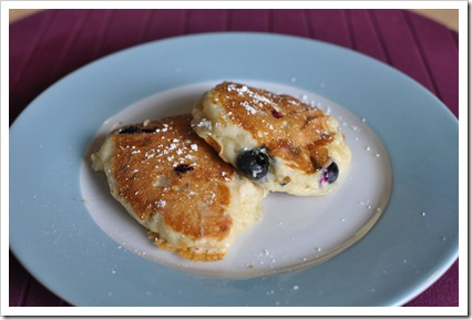 Blueberry Banana Yogurt Pancakes