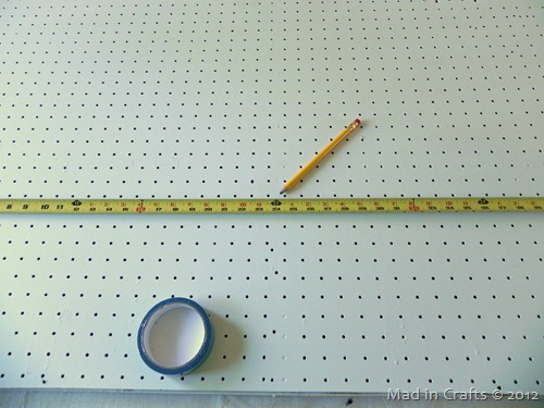 mark the pegboards center
