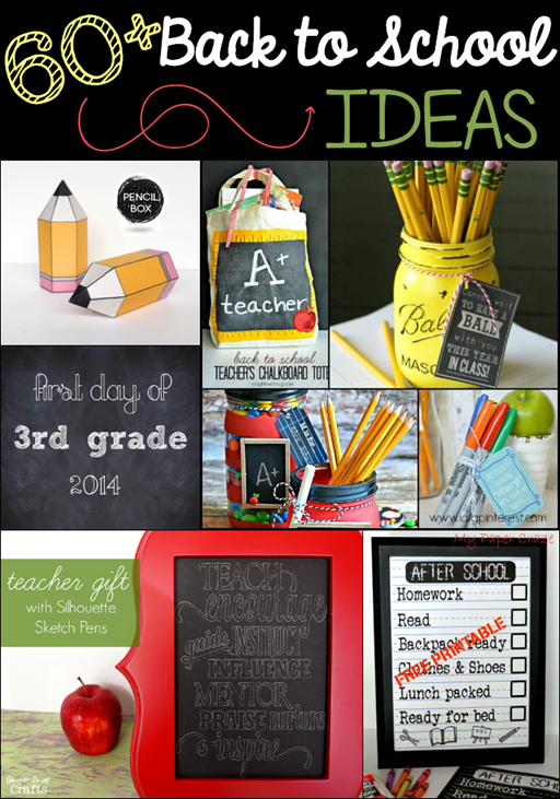 60  Back to School Ideas at GingerSnapCrafts.com #linkparty #features #backtoschool_thumb[2]