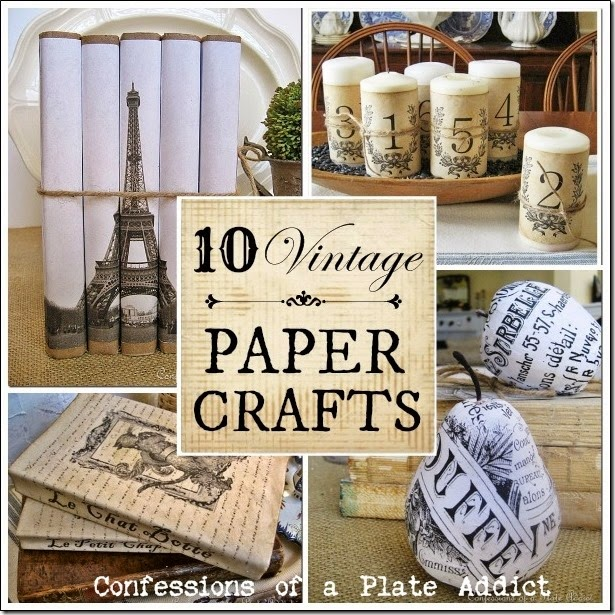 CONFESSIONS OF A PLATE ADDICT Vintage Paper Crafts Plus How to Age Paper