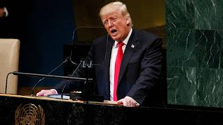 Vẻ mặt bất cần, Trump tự tin phát biểu trước LHQ hôm qua... chỉ thẳng mặt Trung cộng