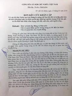 Đơn kêu cứu của người dân Lộc Hưng