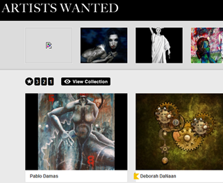 artistswanted public collection page