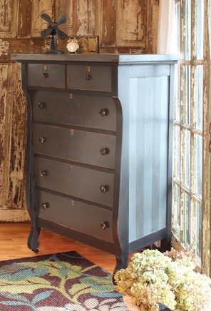 distressed-striped dresser