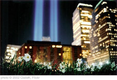 'Ground Zero Memorial Lights' photo (c) 2002, ClatieK - license: http://creativecommons.org/licenses/by-nd/2.0/