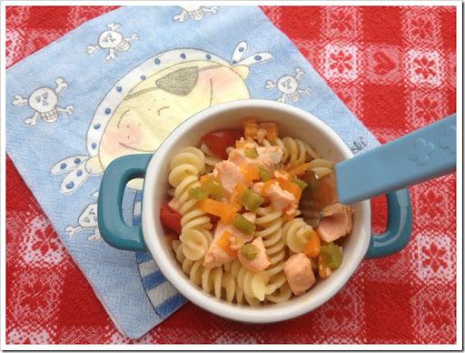 Ben noto Mammarum: Ricette di pesce per bambini: pasta veloce con salmone e  CP03