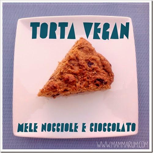 Torta vegan alle nocciole e cioccolato