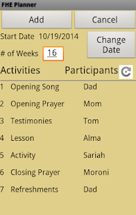 Family Home Evening Planner- screenshot thumbnail