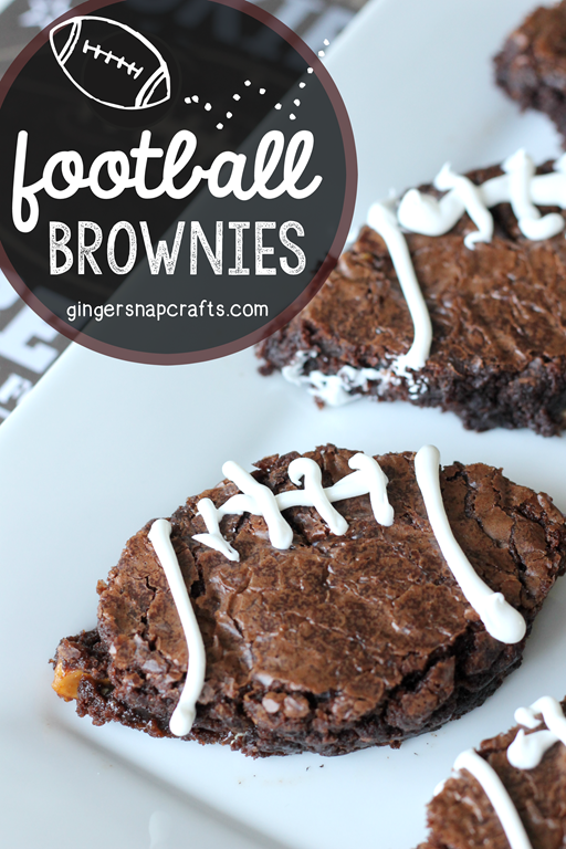 Football Brownies at GingerSnapCrafts.com #ChocolatefortheWin #collectivebias #shop