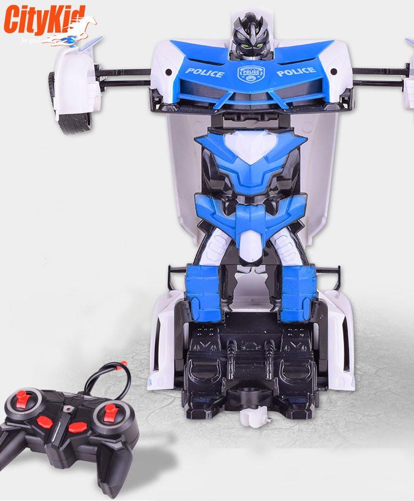 Xe ô tô cảnh sátbiến hình thành robot