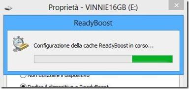 Configurazione ReadyBoost su chiavetta USB