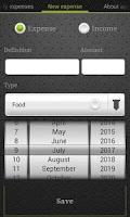 Screenshot of Expense Control