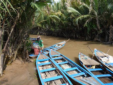 Tur Delta Mekongului: barci in Delta Mekong