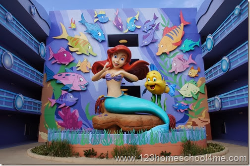 Litlte Mermaid Rooms at Art of Animation Hotel in Disney World