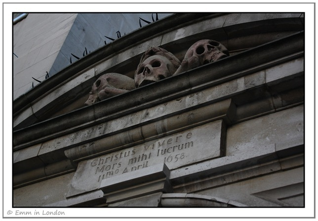 Skulls at St Olaves Church