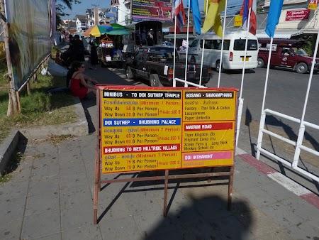 Preturi autobuze Chiang Mai