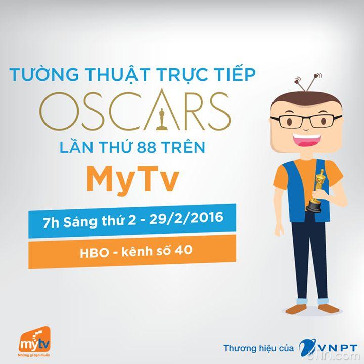 XEM LỄ TRAO GIẢI OSCAR LẦN THỨ 88 TRÊN MYTV
