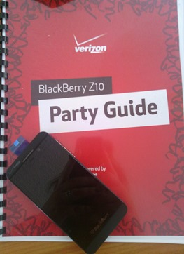 #BlackBerryZ10 @VerizonInsider Party
