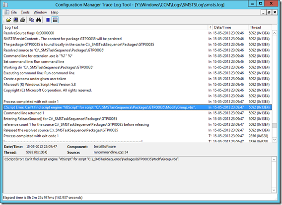MINDCORE BLOG: CScript Error: Can't find script engine