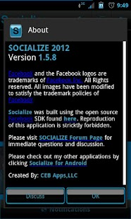Blue Socialize for Facebook - screenshot thumbnail