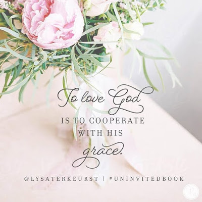 To love God is to cooperate with His grace And since Im