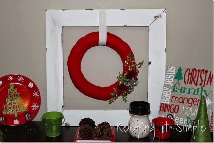 framed Christmas wreath (1)