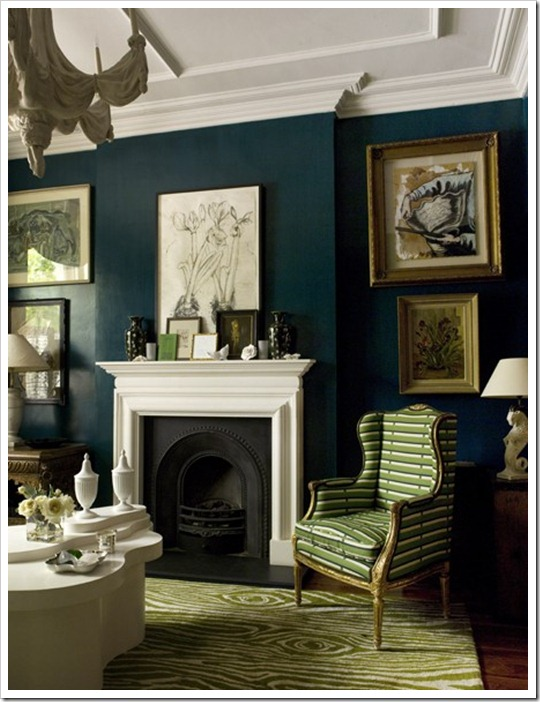 dark coloured walls house & home