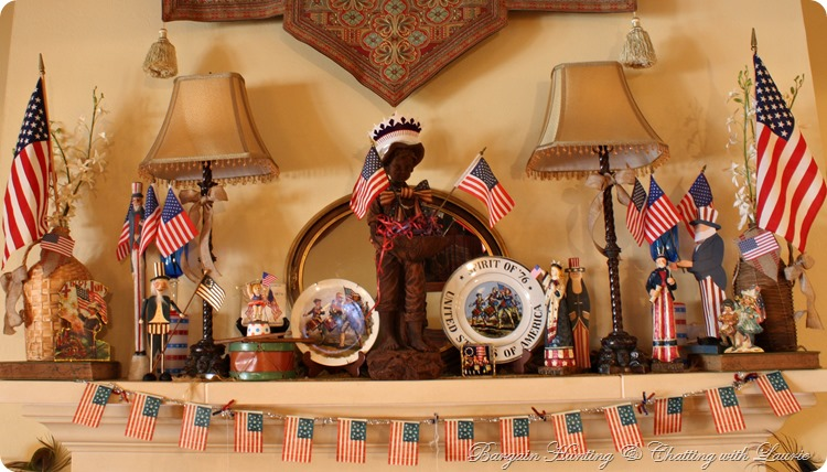 4th of July Mantel-Bargain Hunting with Laurie