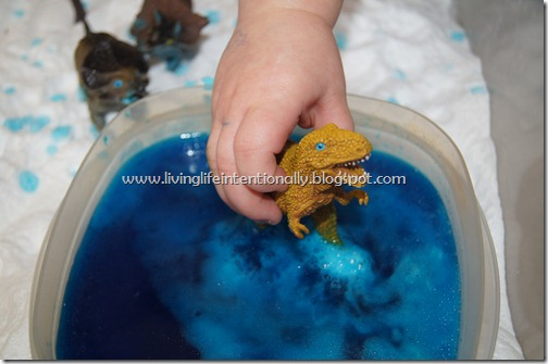 Interactive Dinosaur Pond for Sensory Play
