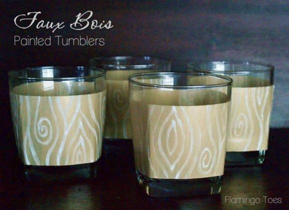 Faux-Bois-Painted-Tumblers-