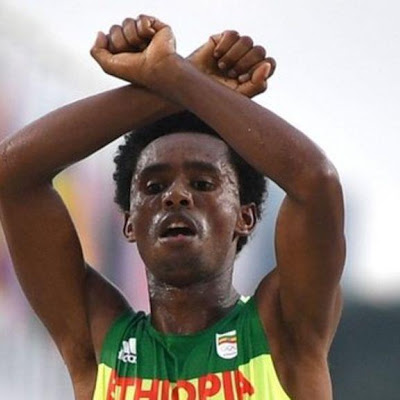 Amazing story about an Oromo marathon runner who protested the treatment of