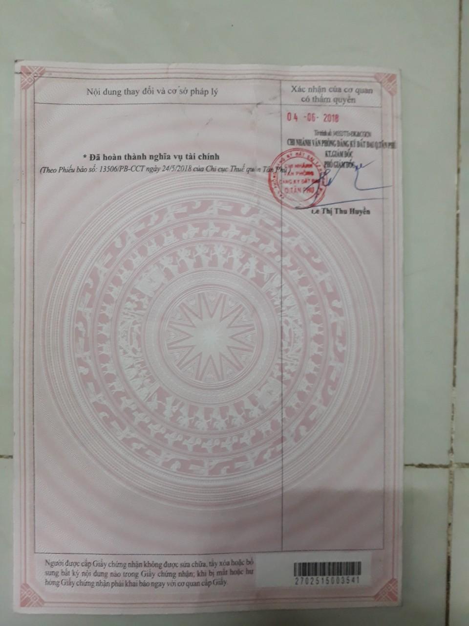 Bán nhà hẻm ô tô Phú Thọ Hòa Quận Tân Phú 2