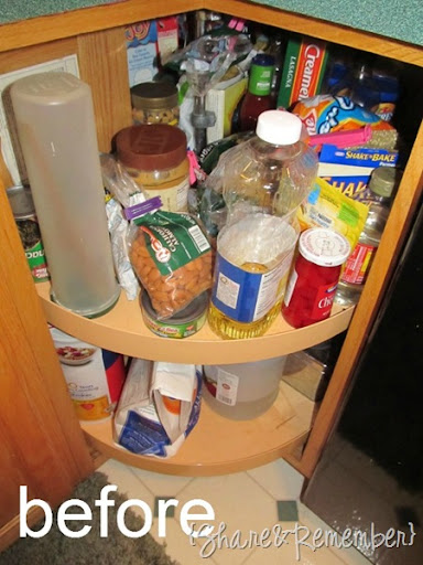 1befre Organizing Cabinets Share Remember Source Lazy Susan Kitchen Cabinet  Organization Tips Tricks On The Cheap
