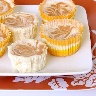 Pumpkin Swirl Mini Cheesecakes.