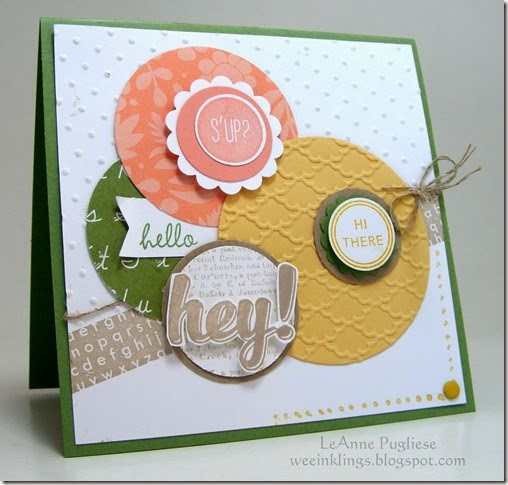 LeAnne Pugliese WeeInklings Paper Players 235 Stampin Up Hi There Tape It