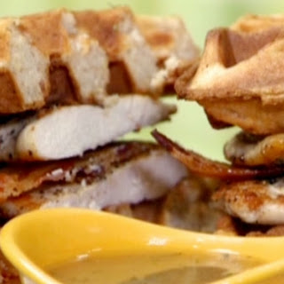 Chicken and Waffle Monte Cristos with Rosemary-Maple Gravy Recipe