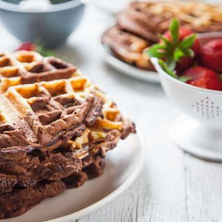 Chocolate Waffles Recipe with Vanilla Swirl