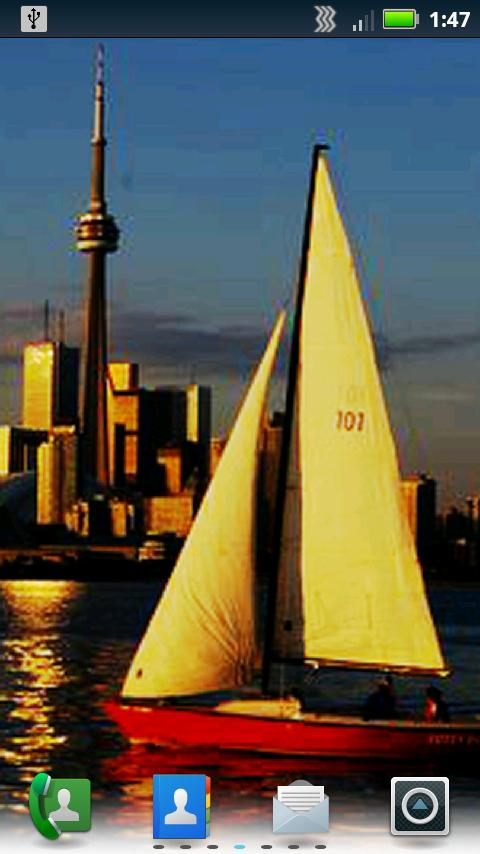 Sailboats Live Wallpaper - screenshot