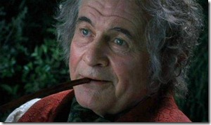 Bilbo Smoking a Pipe