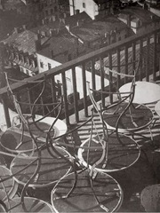 Laszlo Moholy-Nagy - tables on a balcony - Finland - 1931